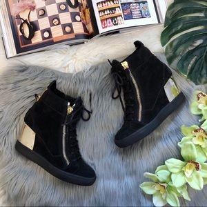 Giuseppe Zanotti | Black Wedge Heel Sneaker